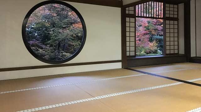 Sleeping on the floor: tatami mats